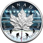 Canada ICE HOCKEY CANADIAN MAPLE LEAF $5 Dollars 2019 Silver Coin 1 oz